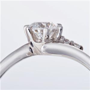 Dカラー・VVS2・EX Pt0.3ct ダイヤリング サイドダイヤモンド (鑑定書付き) 13号 h03
