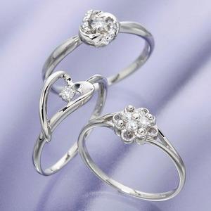 プラチナダイヤモンドデザインリング3型 カレイドスコープ 9号