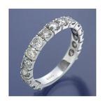 K18WG ダイヤリング 指輪 2ctエタニティリング 16号