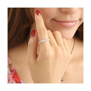 K18WG ダイヤリング 指輪 2ctエタニティリング 13号 h02