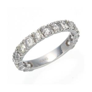 K18WG ダイヤリング 指輪 2ctエタニティリング 13号 h03