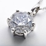 プラチナPt900  超大粒1.7ctダイヤモンドペンダント/ネックレス(鑑定書付き)