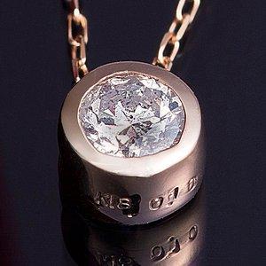 K18PG 0.1ctダイヤモンドフクリンペンダント