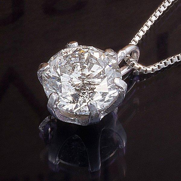 プラチナPT999 0.5ctダイヤモンドペンダント/ネックレス (鑑別書付き)5