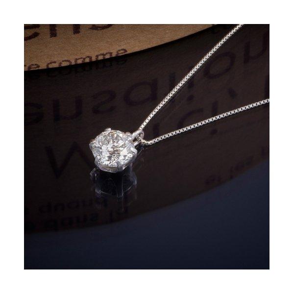 プラチナPT999 0.5ctダイヤモンドペンダント/ネックレス (鑑別書付き)1