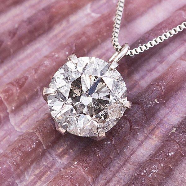 プラチナPT999 1ctダイヤモンドペンダント/ネックレス (鑑別書付き)f00