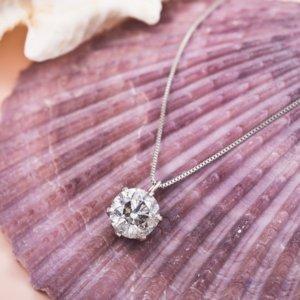 プラチナPT999 1ctダイヤモンドペンダント/ネックレス (鑑別書付き)画像2