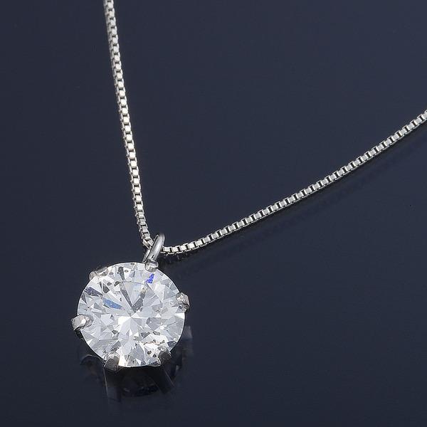 プラチナ0.7カラット 一粒ダイヤモンドネックレス(D・SI・EX)