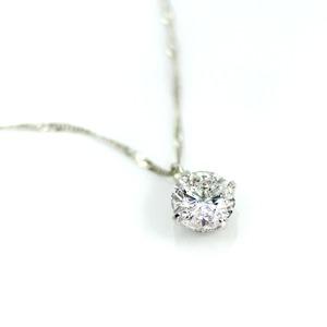 純プラチナ 0.7ct 4つ爪ダイヤモンドペンダント/ネックレス (鑑別書付き)