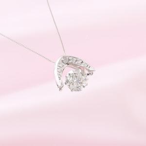 ダンシングストーン 1.2ctダイヤモンドペンダント/ネックレス (鑑別書付き)