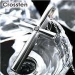 Crossten ブラックダイヤ メンズクロスネックレス【送料無料】