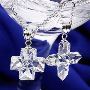 水晶クロスネックレス プレーン