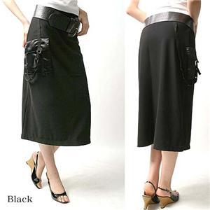 デザインAラインニットロングスカート 25410-N ブラック M