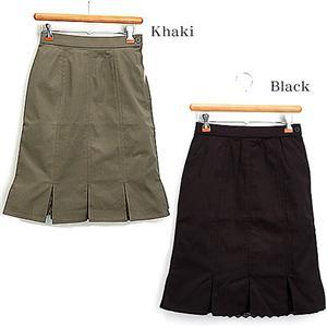 8枚接ぎ裾レーススカート 26132-D カーキ L