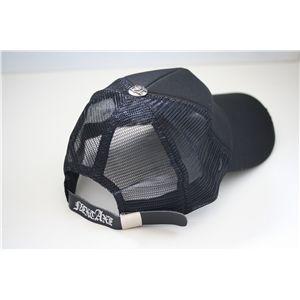 スタッズ付きクラッシュ加工CAP NA0201(黒x黒) h03