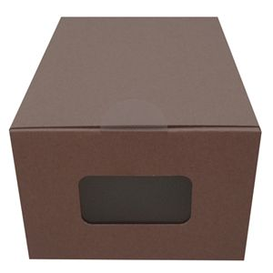 紙でできたシューズボックス【ジョイント式からくりストックケース】 Sサイズ 6個セット ブラウン - 拡大画像