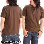 NEW BALANCE(ニューバランス) 無地ポロシャツ AMTZ6488 MOCHA LL(日本サイズ3L)