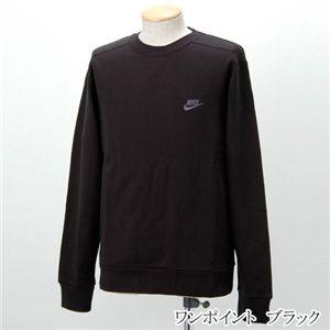NIKE(ナイキ) 裏毛トレーナー ワンポイント/206927  ブラック Lサイズ - 拡大画像
