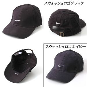 NIKE(ナイキ) ロゴCAP 592726/(スウォッシュロゴ)ブラック - 拡大画像