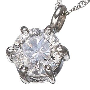 K18WGダイヤモンド0.5ctペンダントの写真2
