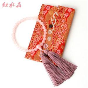 京都特選数珠【永観】紅水晶略式念珠