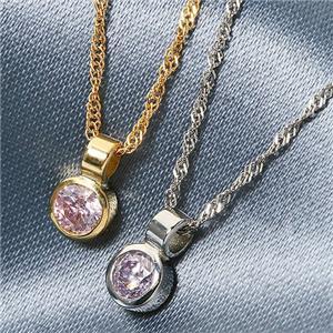 K18 ピンクダイヤモンド0.08ct シンプルペンダント FMP-TM00335/YG/イエローゴールドの写真2