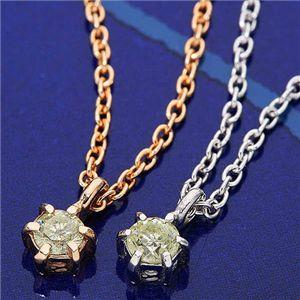 K18ダイヤモンド0.1ctペンダント(シルバーチェーン付き) ホワイトゴールドの写真2