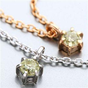 K18ダイヤモンド0.1ctペンダント(シルバーチェーン付き) ピンクゴールドの写真3