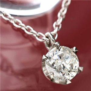 ダイヤモンド0.45ct1粒石ペンダントの写真1