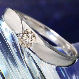 シャンパンゴールドダイヤモンド0.2ct一粒リング9号 - 拡大画像