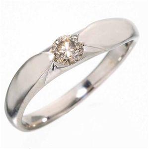 シャンパンゴールドダイヤモンド0.2ct一粒リング13号の写真2