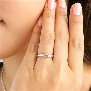 シャンパンゴールドダイヤモンド0.2ct一粒リング13号の写真3