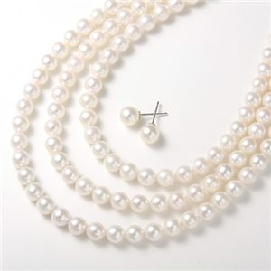 あこや本真珠 ネックレス&ピアス4点セット