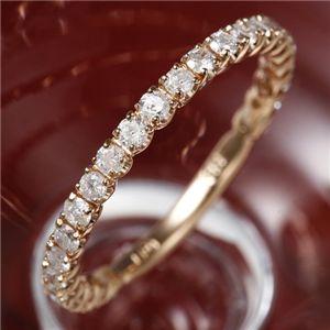 K18 ピンクゴールド ダイヤモンドエタニティリング 9号の写真1