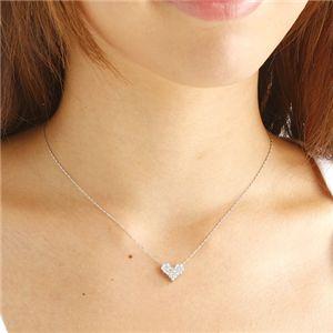 プラチナ0.5ctピンクダイヤモンドハートパヴェペンダント(鑑別付き)の写真4