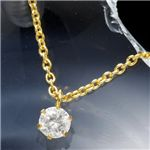 純金台ダイヤモンド0.2ctペンダント