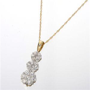 ダイヤモンド計1.5ctラウンドミステリーペンダント イエローゴールド - 拡大画像