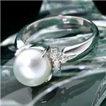 あこや真珠 8mmアップ パールダイヤリング 指輪 #17