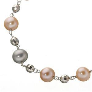 池蝶真珠 2カラー使用 パールブレスレット