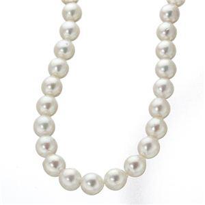 【訳あり・在庫処分】あこや真珠 8.5~9mm珠 パールネックレス&パールピアス セット(鑑別カード付き)