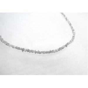 ホワイトダイヤ15ctラフクリスタル ラウンドネックレス - 拡大画像