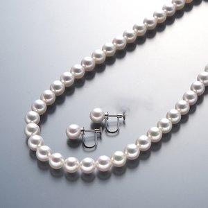 【送料無料】 真珠総合研究所 あこや真珠<花珠>8-8.5mmネックレス&イヤリングセット