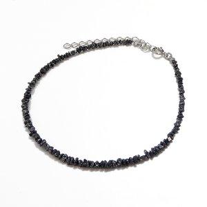 ブラックダイヤ6ctラフクリスタル ブレスレット