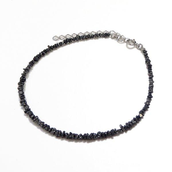 ブラックダイヤ6ctラフクリスタル ブレスレットf00