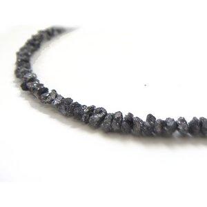 ブラックダイヤ6ctラフクリスタル ブレスレット h02