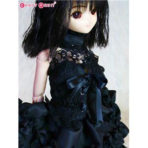 [60cmドール用]ブラックビスチェメイド服
