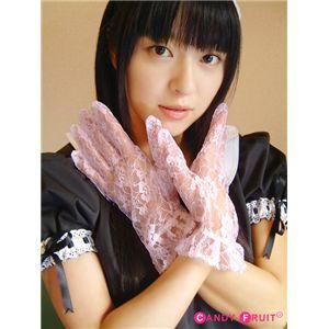 バラ柄シースルーグローブ(ピンク)