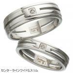 ステンレス&ダイヤモンドリング RSDM01 センターラインスリムサイズ 15