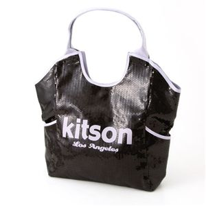 kitson(キットソン) トートバッグ Sequin Tote 3922・ブラック×ラベンダー
