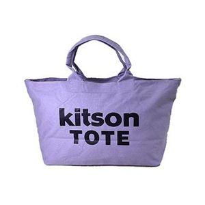 kitson(キットソン) キャンバスビッグトート 3368 ライトパープル/ダークパープル - 拡大画像
